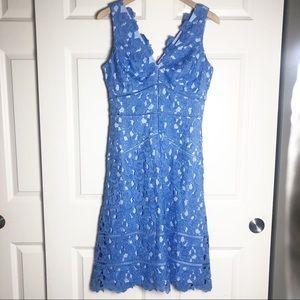 Vineyard Vines Blue Lace Derby Dress Size 6